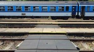 Přechod přes koleje ve Frenštátu pod Radhoštěm