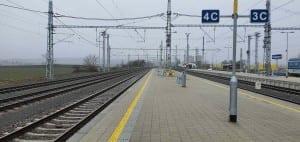 Křižanov, nástupiště u 4. koleje