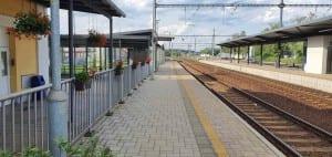 Soběslav nádraží, 1. nástupiště
