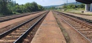 Nemotice nádraží a jeho nástupiště