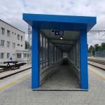 Sklené nad Oslavou a nástupiště u 1. koleje