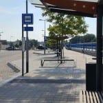 Autobusová zastávka Třebíč, žel. stanice