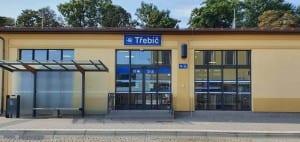 Přístup na nádraží v Třebíči