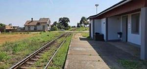 Železniční zastávka Vesce