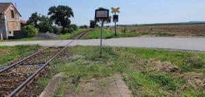 Kudy na vlak v obci Vesce