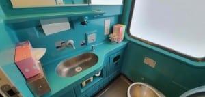 Záchod ve voze Bpmz 20-91