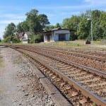 Zastávka Brankovice nástupiště směr Uherské Hradiště