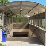 Podchod na nádraží v Brankovicích