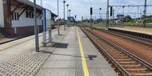 Choceň, nástupiště 1a u koleje 5a