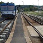 Příchod na vlak v Kutné Hoře město
