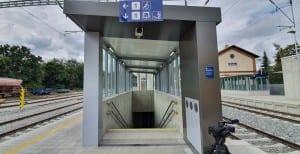 Vlaková stanice Střelice: nástupiště