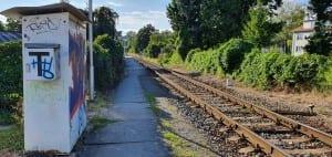 Přístup na nástupiště na zastávce Zlín Dlouhá