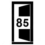 Ikona - vnější dveře vozu šířky 85 cm